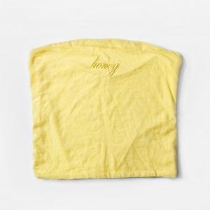 BRANDY MELVILLE Yellow Honey Tube Top